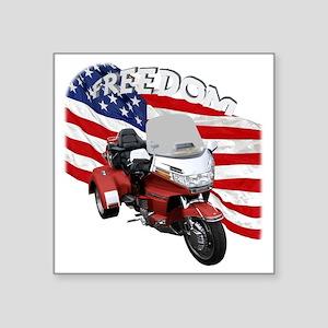 "AB08 C-2K FREE RED Square Sticker 3"" x 3"""