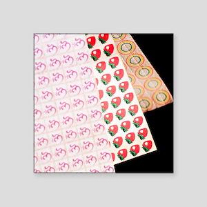 "Sheets of LSD (acid) tabs Square Sticker 3"" x 3"""