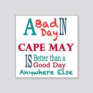 "Cape May Square Sticker 3"" x 3"""