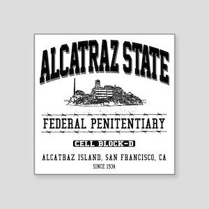 """ALCATRAZ_STATE_dcp Square Sticker 3"""" x 3"""""""