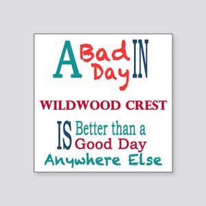 "Wildwood Crest Square Sticker 3"" x 3"""
