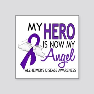 """Alzheimers Hero Now My Ange Square Sticker 3"""" x 3"""""""