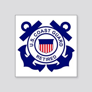"USCG-Retired-Bonnie Square Sticker 3"" x 3"""