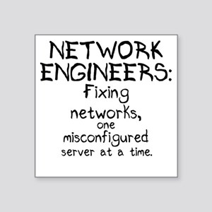 "network-engineers Square Sticker 3"" x 3"""