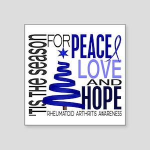 "D Christmas 1 Rheumatoid Ar Square Sticker 3"" x 3"""