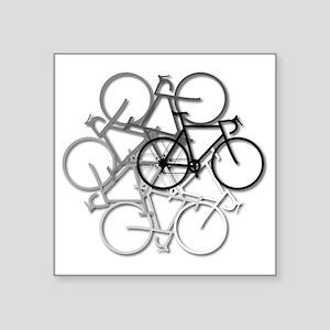 "Bicycle circle Square Sticker 3"" x 3"""