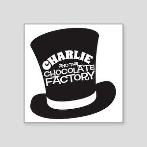 "Charlie hat Square Sticker 3"" x 3"""
