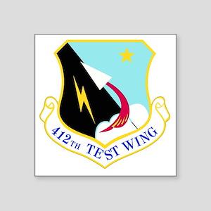 "USAF Air Force 412th Test W Square Sticker 3"" x 3"""