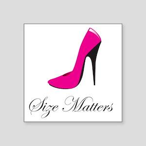 "size-matters Square Sticker 3"" x 3"""