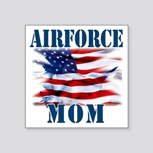 "Airforce Mom Square Sticker 3"" x 3"""