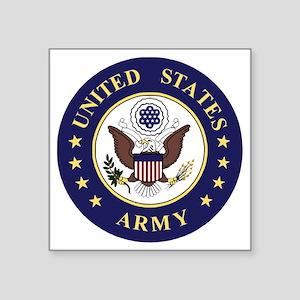 "Army-Emblem-172nd-Stryker-C Square Sticker 3"" x 3"""