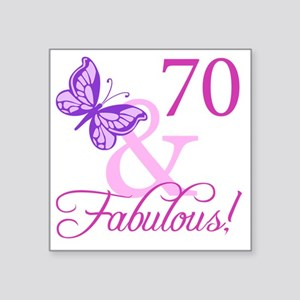 "Fabulous_Plumb70 Square Sticker 3"" x 3"""