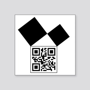 "QRcodeEuclidFreemason Square Sticker 3"" x 3"""