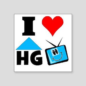 """I Love HGTV Square Sticker 3"""" x 3"""""""