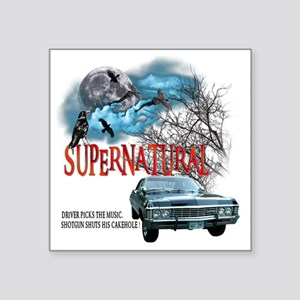 "SUPERNATURAL 1967 chevrolet Square Sticker 3"" x 3"""