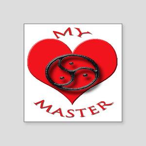 "BDSM love my valentine mast Square Sticker 3"" x 3"""