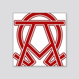 "dexter-alpha-omega-symbol Square Sticker 3"" x 3"""