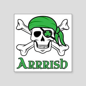 "Irish Pirate Square Sticker 3"" x 3"""