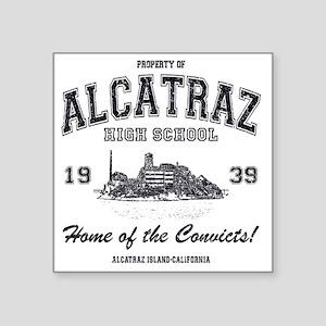 """Alcatraz High School Square Sticker 3"""" x 3"""""""