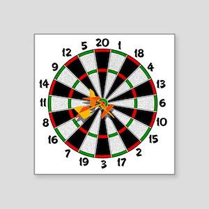 """dartboard Square Sticker 3"""" x 3"""""""