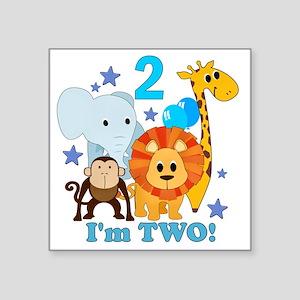 "baby2JungleAnimals Square Sticker 3"" x 3"""
