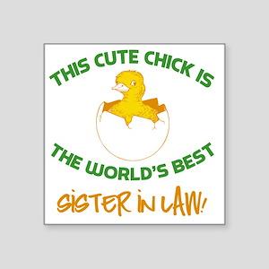 """Cute Sister-In-Law Square Sticker 3"""" x 3"""""""
