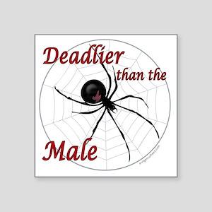 """deadlierspider Square Sticker 3"""" x 3"""""""