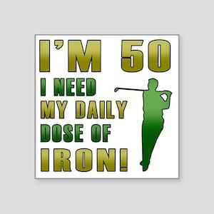 "Iron 50 Square Sticker 3"" x 3"""