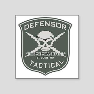 "Defensor Tactical Square Sticker 3"" x 3"""
