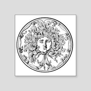 "Medusa Square Sticker 3"" x 3"""