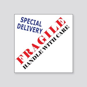 "Fragile Baby Shirt Back Square Sticker 3"" x 3"""