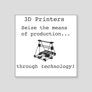 "3D Printer Revolution Square Sticker 3"" x 3"""