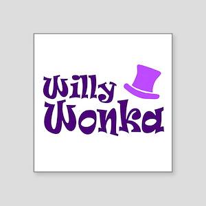 "'Willy Wonka' Square Sticker 3"" x 3"""