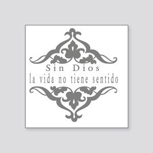 "Faith-Hope-Love Square Sticker 3"" x 3"""