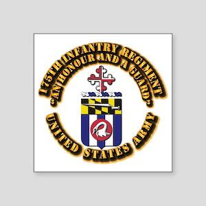 "COA - 175th Infantry Regiment Square Sticker 3"" x"