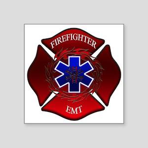 FIREFIGHTER-EMT Rectangle Sticker