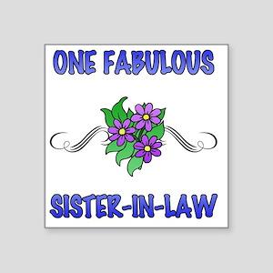 "3Flowers_SisterInLaw Square Sticker 3"" x 3"""