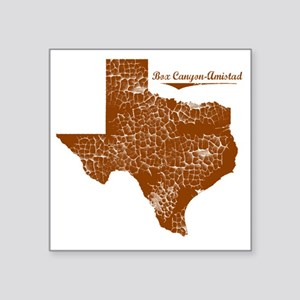 "Box Canyon-Amistad, Texas.  Square Sticker 3"" x 3"""