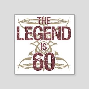 """Men's Funny 60th Birthday Square Sticker 3"""" x 3"""""""