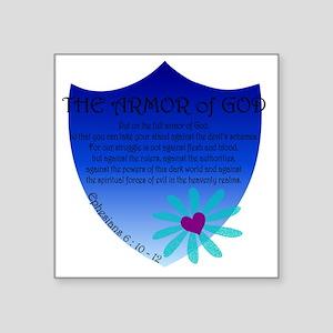 """Armor of God Square Sticker 3"""" x 3"""""""