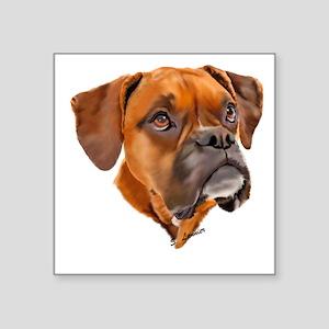 Boxer Art Portrait Sticker