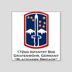 "172nd Infantry Blackhawk Square Sticker 3"" x 3"""