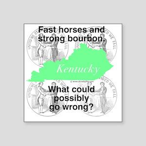 "Kentucky Square Sticker 3"" x 3"""