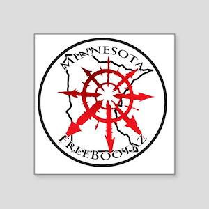 "Minnesota Freebootaz Square Sticker 3"" x 3"""