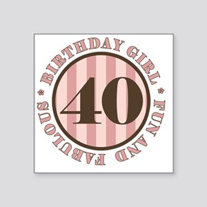 "FunAndFab 40 Square Sticker 3"" x 3"""