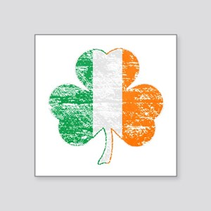 Vintage Irish Flag Shamrock Sticker