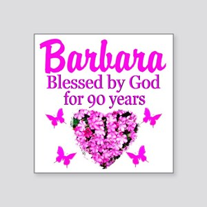 """BLESSED 90TH Square Sticker 3"""" x 3"""""""