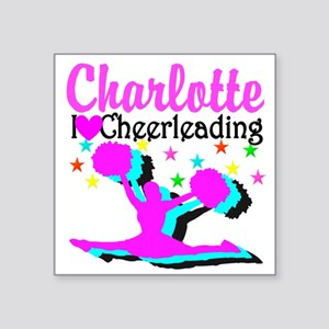 "CHEER 4EVER Square Sticker 3"" x 3"""