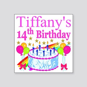 "14TH BIRTHDAY Square Sticker 3"" x 3"""