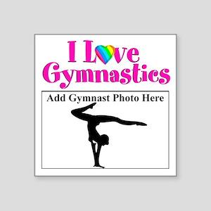 "GYMNAST LOVE Square Sticker 3"" x 3"""